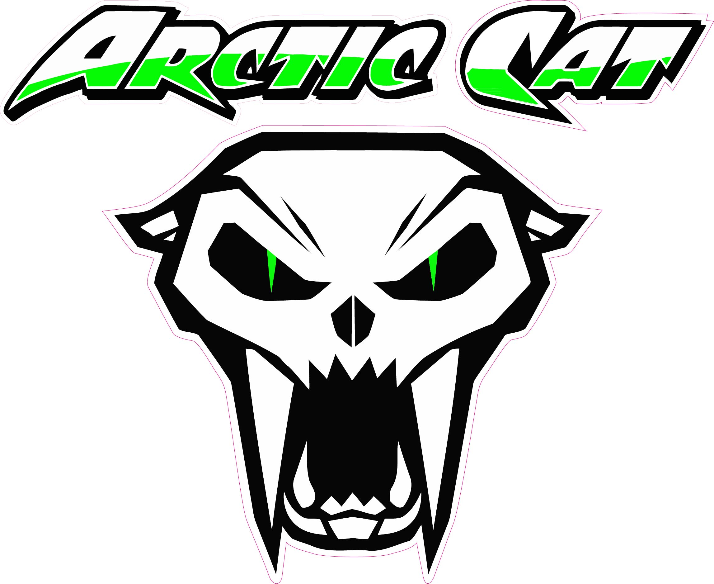"Arctic Cat 10"" Version 3 Decal Free Shipping in the United States. by NOSTALGIA DECALS"