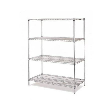 Olympic 24 in. Deep 4-Shelf Starter Unit - Chrome (24 in. W x 54 in. H)
