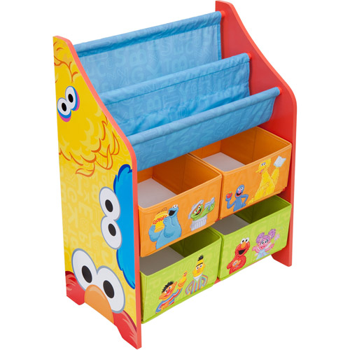 Sesame Street Book and Toy Organizer