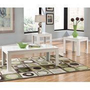 Standard Furniture Outlook 3 Piece Coffee Table Set in White Laminates