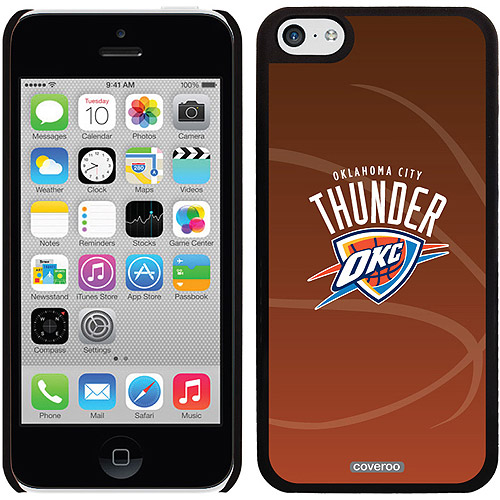 Oklahoma City Thunder Basketball Design on iPhone 5c Thinshield Snap-On Case by Coveroo