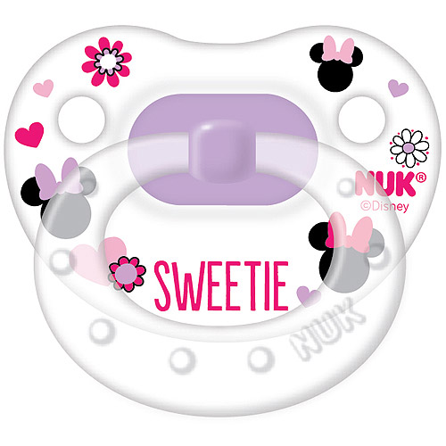 NUK Disney Minnie Mouse Silicone Orthodontic Pacifier, Set of 2, 0-6 Months