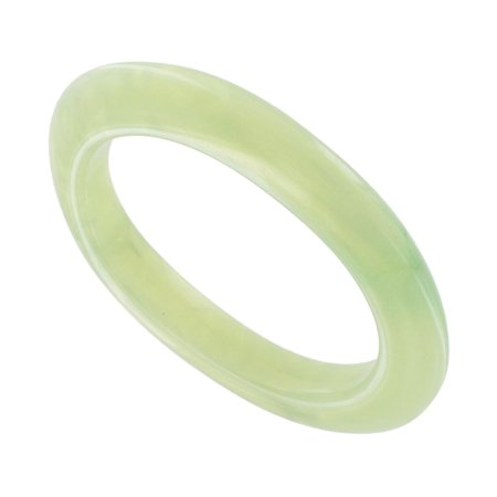 Pearlized Green Italy Lucite Oval Shape Bangle Bracelet