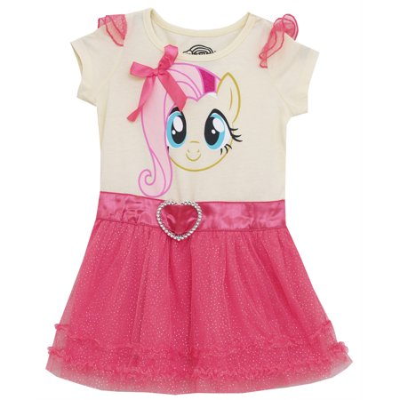 My Little Pony I Am Fluttershy Mighty Fine Toddler Girls Tulle Dress with Wings](My Little Pony Dress For Girls)