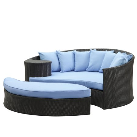 Taiji Outdoor Patio Daybed (Lexmod Taiji Outdoor Rattan Daybed With Ottoman)