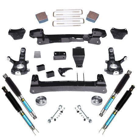 SuperLift 6 inch Lift Kit - 1999-2006 Chevy Silverado and GMC Sierra 1500 4WD - Knuckle Kit with Bilstein (Best 4 Inch Lift Kit For Silverado 1500)