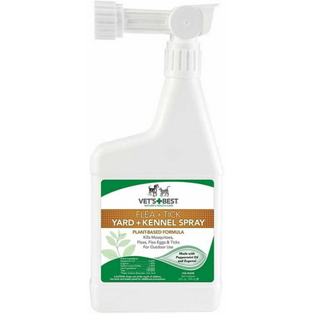 Vet's Best Natural Flea & Tick Yard & Kennel Spray, 32 (Vet's Best Flea And Tick Spray Ingredients)