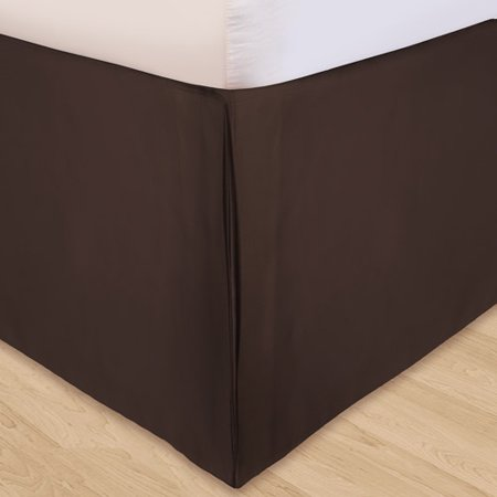 Solid Microfiber 3-Piece Adjustable Bedding Bed Skirt ()