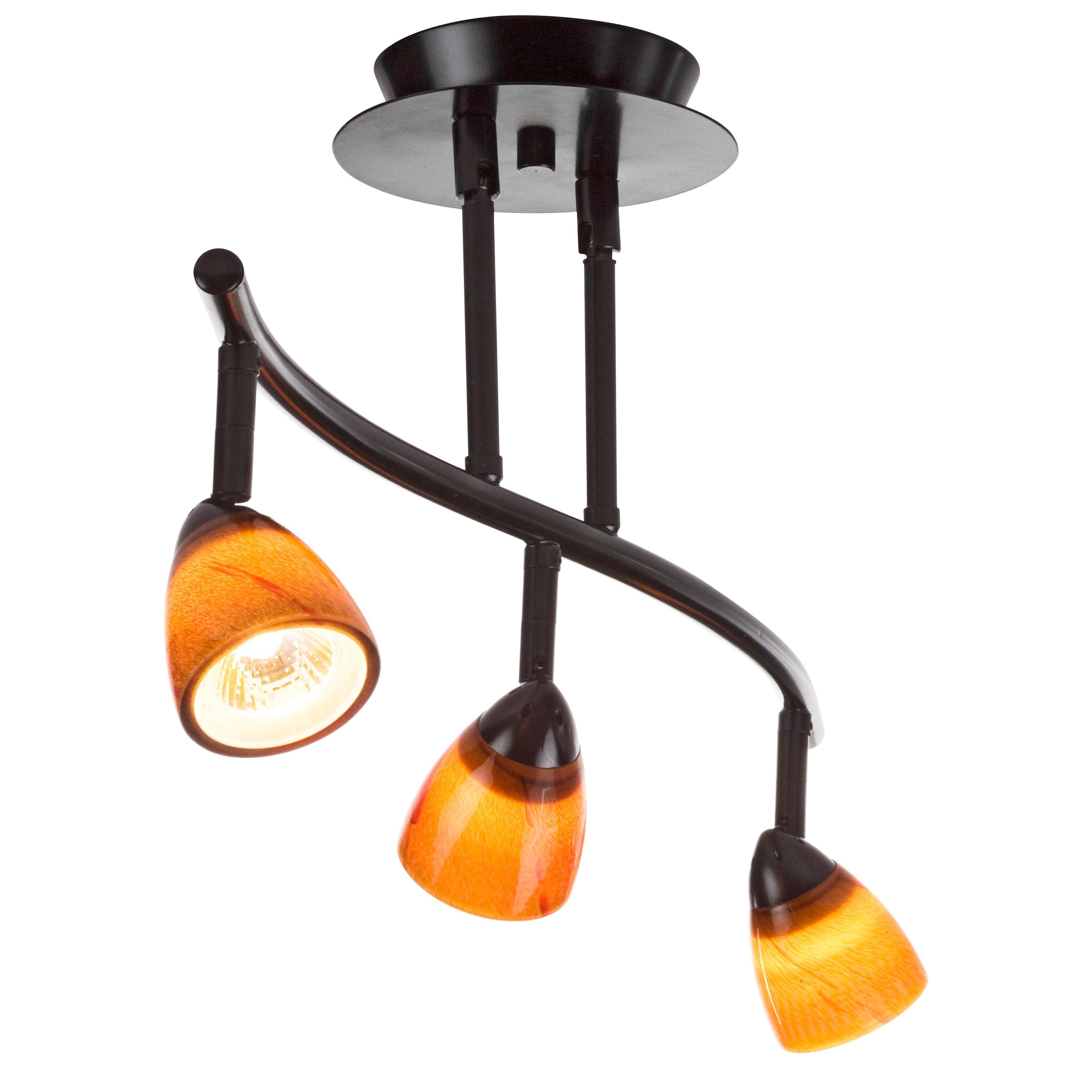 Cal Lighting Serpentine Rail Light Bar - 3 Heads