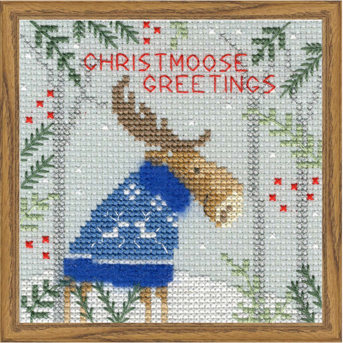 Bothy Threads Xmas Moose Counted Cross-Stitch Kit