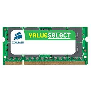1066 Dual Channel - Corsair 8GB (2x4GB) Dual Channel DDR3-1066 SODIMM Memory Kit