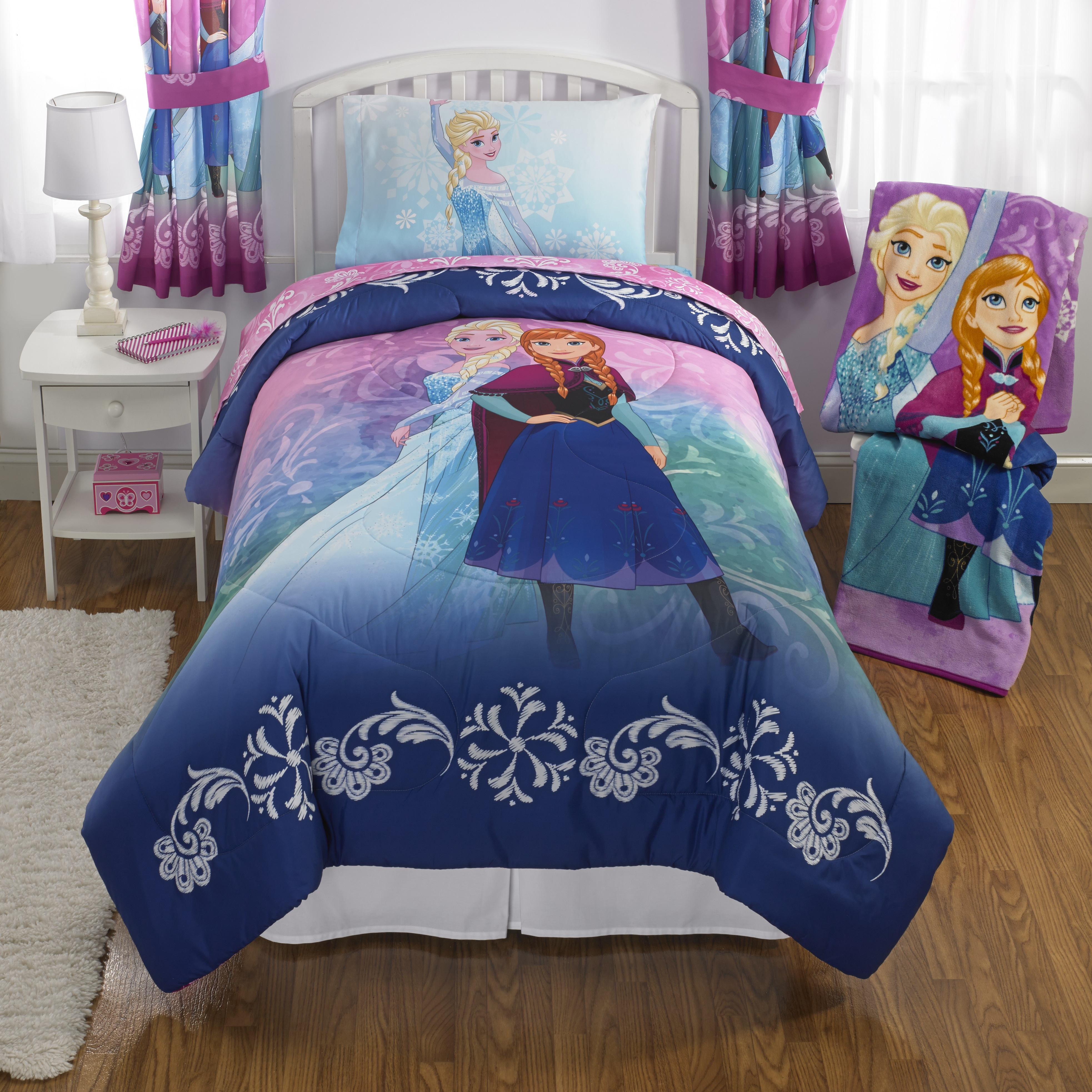 frozen nordic frost kidu0027s bedding bed in bag twin bedding set