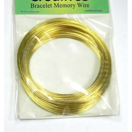 Memory Wire Gold Stainless Steel 2-1/4