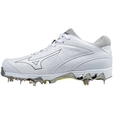 Mizuno Fastpitch 9-Spike Swift 4 Metal Cleats White Size 12 by Mizuno