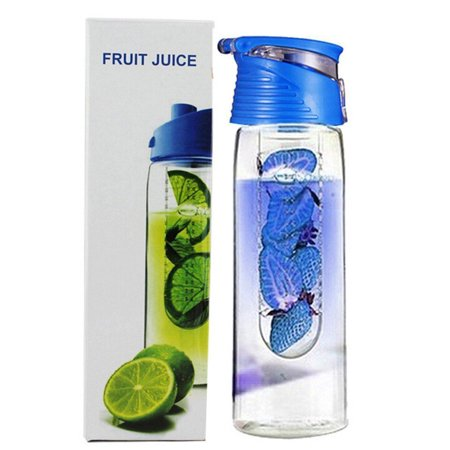 With Lid Infuser - Joyfeel Clearance 800 Milliliter Fruit Infusing Water Bottle with Fruit Infuser and Flip Lid Lemon Juice Make Water Bottle for Kids/Men/Women