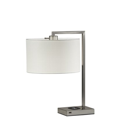 Adesso Austin Table Lamp with Charging Pad and Port