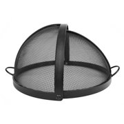 """34"""" Welded High Grade Carbon Steel Pivot Round Fire Pit Safety Screen"""