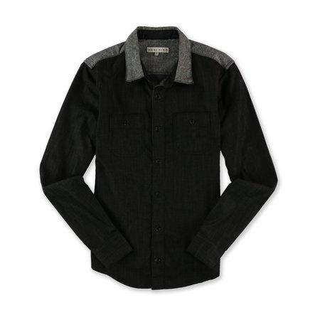 Mens Tweed SS Button Up Shirt (Men In Tweed)