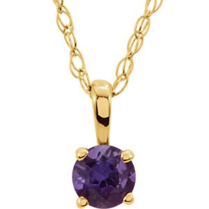 Jewels By Lux 14K Yellow Gold Amethyst 14