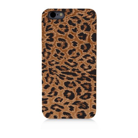 Cheetah Leopard Pattern   High Quality Uv Printed Real Cherry Wood Cellphone Case Natural Protection Pc Rubberized Corners For Iphone 5C