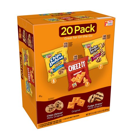 Chips Deluxe/Cheez-It/Fudge Stripes Variety Pack 20 ct Bags - Top 20 Halloween Snacks