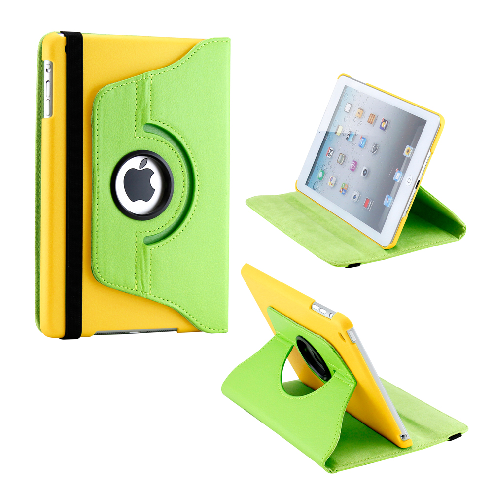 360 Degree Rotating PU Leather Case Smart Cover With Swivel Stand for Apple iPad Mini / Mini Retina / Mini 3 Case (Released 2014)