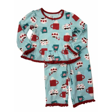 28f16a62f Child of Mine by Carter's - Carters Infant & Toddler Girls Blue Fleece Hot  Cocoa Sleepwear Set Pajamas - Walmart.com