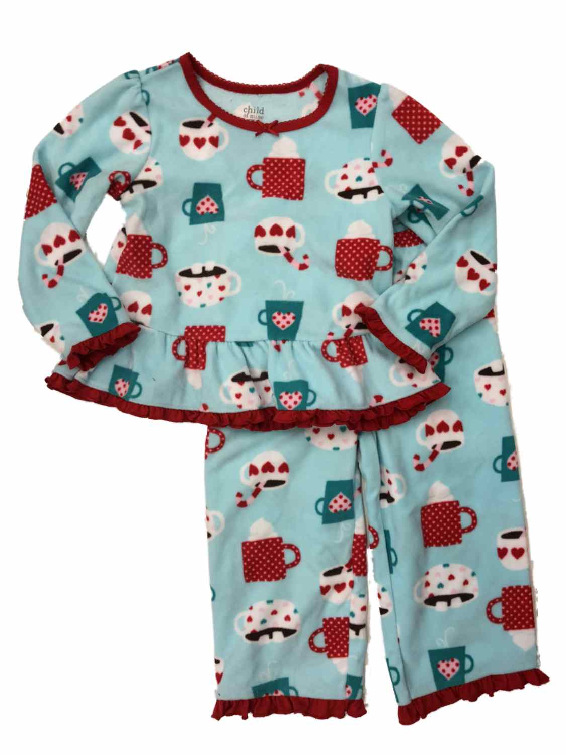 Baby Girls' 2 Piece Blue Coco Fleece PJ's