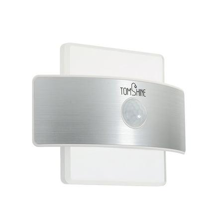 Induction Lighting - Tomshine Rechargeable 2 Power Supply 2 Lighting Modes PIR Body Motion Induction Sensor Lamp Wall Night Light for Corridor Stair Basement Attic Closet Garage