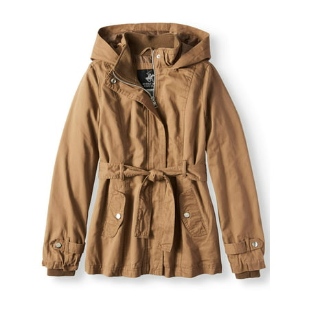 Belted Cotton Hooded Anorak Jacket (Little Girls & Big Girls)