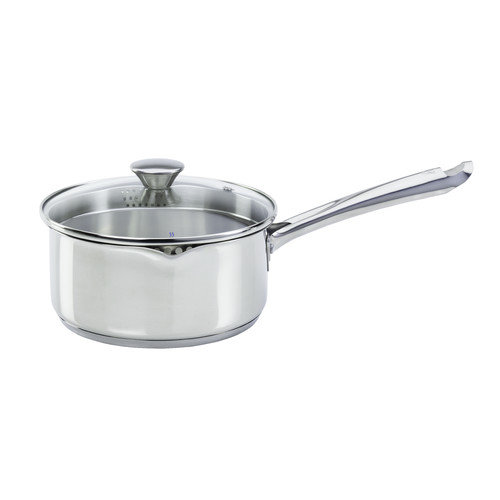 WearEver Cook & Strain Stainless Steel 1.5-Quart Saucepan