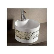 """Whitehaus WHKN4045-03 Isabella 16-1/2"""" Decorative Round Vessel Bathroom Sink wit"""