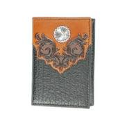 Nocona Western Wallet Mens Trifold Western Overlay Black N5468067