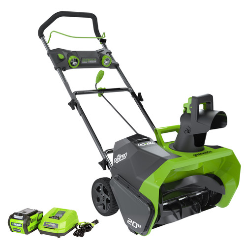 Greenworks 20-Inch 40V Cordless Snow Thrower, 4.0 AH Battery Included 26272 by Sunrise Global Marketing, LLC