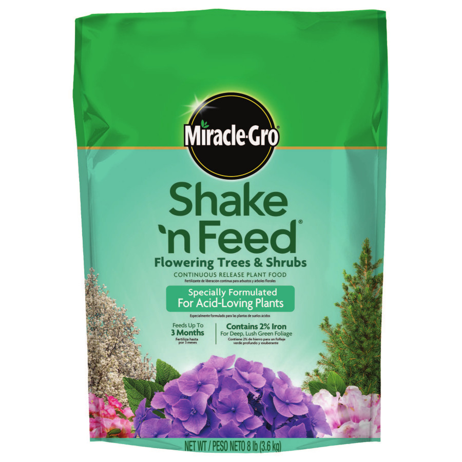 Miracle-Gro Shake 'n Feed Flowering Trees & Shrubs Continuous Release Plant Food, 8 lbs