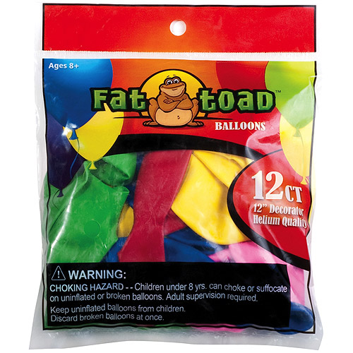 "Fat Toad Latex Balloons 12"" 12/Pkg-Assorted"