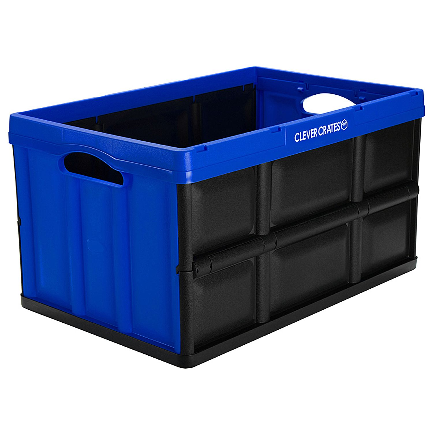 CleverMade CleverCrates Collapsible Storage Container, 62 Liter, Royal Blue