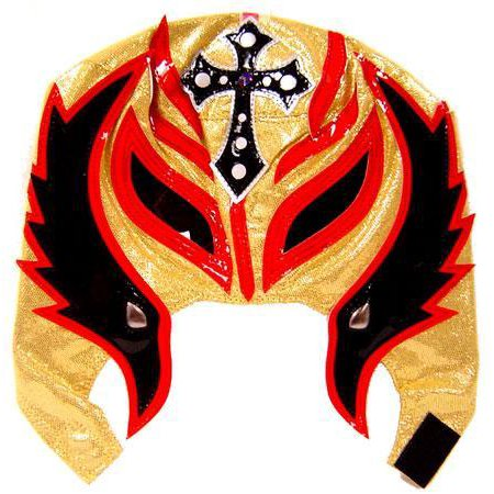 WWE Wrestling Rey Mysterio Replica Mask [Youth, Black, Red & (Pics Of Rey Mysterio Without His Mask)