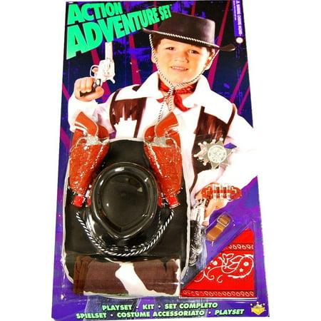 Action Adventure Cowboy Blister Child Costume Set One Size - image 1 of 1