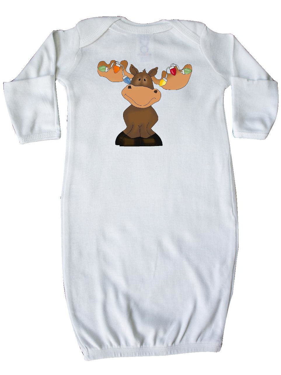 Christmas Moose Lights Newborn Layette