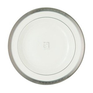 "Platinum Rim Soup Plate - NEWGRANGE PLATINUM RIM SOUP PLATE, 9"""