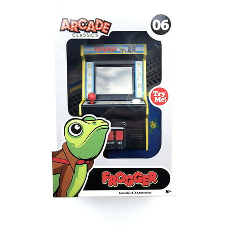 Frogger - Mini Game, ARCADE: Frogger in it's original form on a subWalmartpact arcade style mini console By Arcade Classics Arcade Style Games