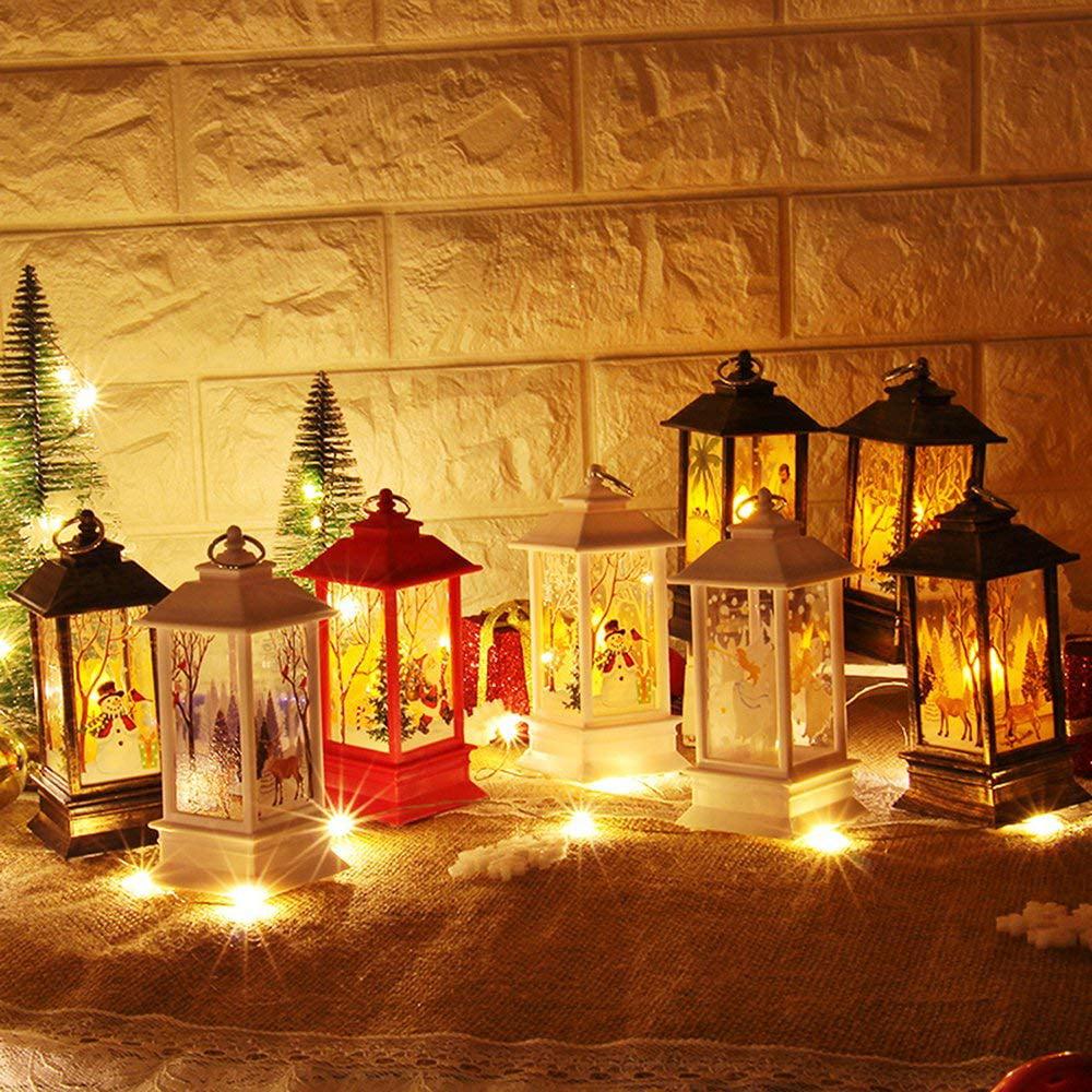 4F06 Beautiful Candle Light Flame Light Christmas Santa Claus Home Decoration