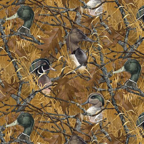"David Textiles, Wild Wings ""ducks In Bra"