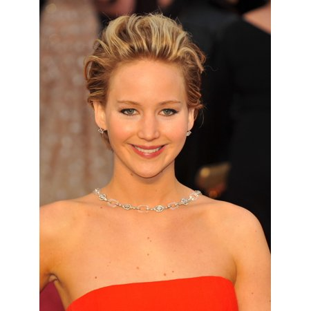 Jennifer Lawrence At Arrivals For The 86Th Annual Academy Awards   Arrivals 1   Oscars 2014 Canvas Art     16 X 20