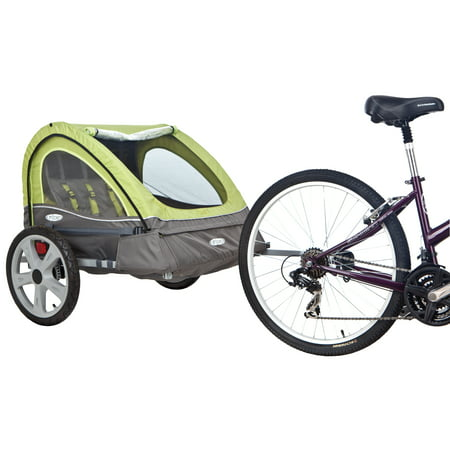 InStep Sierra Double Bicycle Trailer, 16 inch wheels, folding frame, green ()