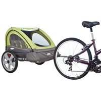InStep Sierra Double Bicycle Trailer, 16 inch wheels, folding frame, green