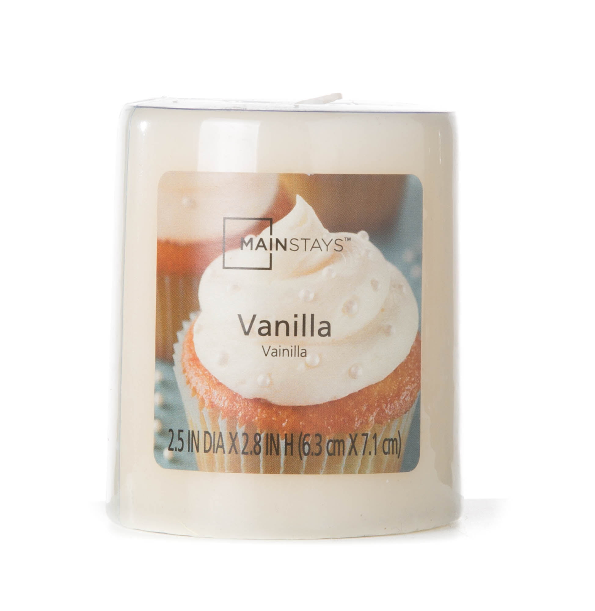 """Click here to buy Mainstays 2.8"""" Pillar Candle, Vanilla by MVP Group International."""