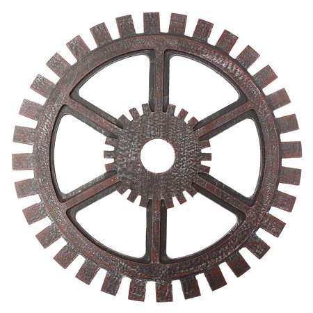 4 Wooden Wall Art Hanging (16'' Industrial Antique Vintage Wooden Gear Wall Hanging Home Bar Cafe Pub Office Steampunk Art DIY Decoration )