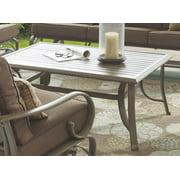 Slat Top Coffee Table in Beached Oak